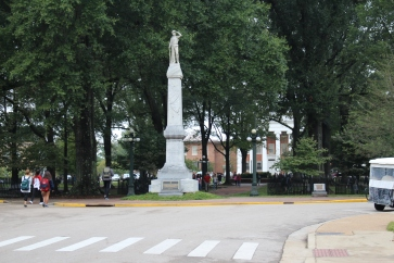The Statue as it stood prior to the crash Saturday